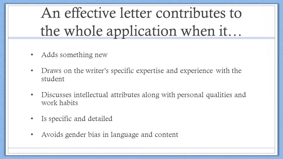 Writing Effective Recommendation Letters - ppt download