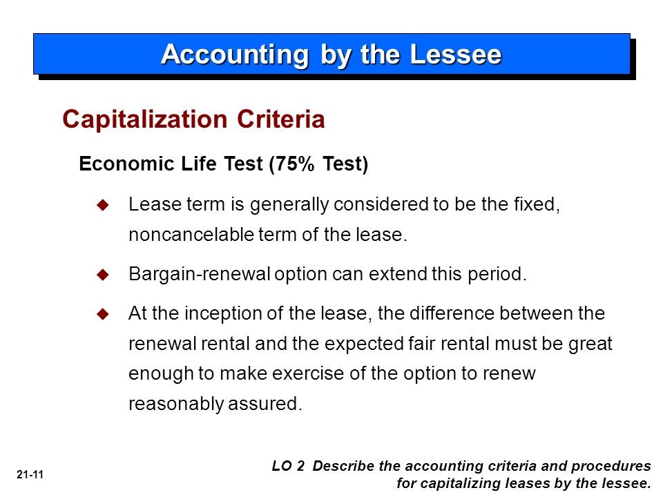 21 Accounting for Leases Intermediate Accounting - ppt download