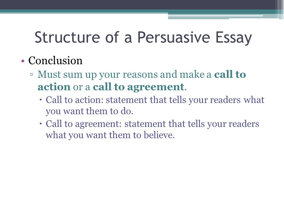 Persuasive Essay Conclusion Structure - How to write essay