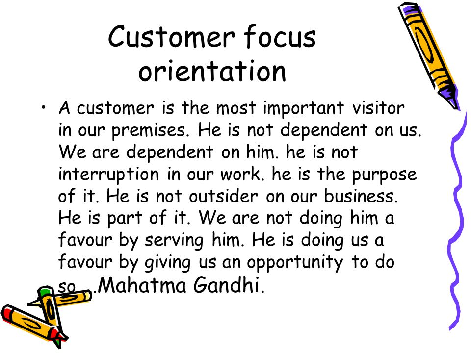Customer focus- a over view with respect to ISO - ppt video online