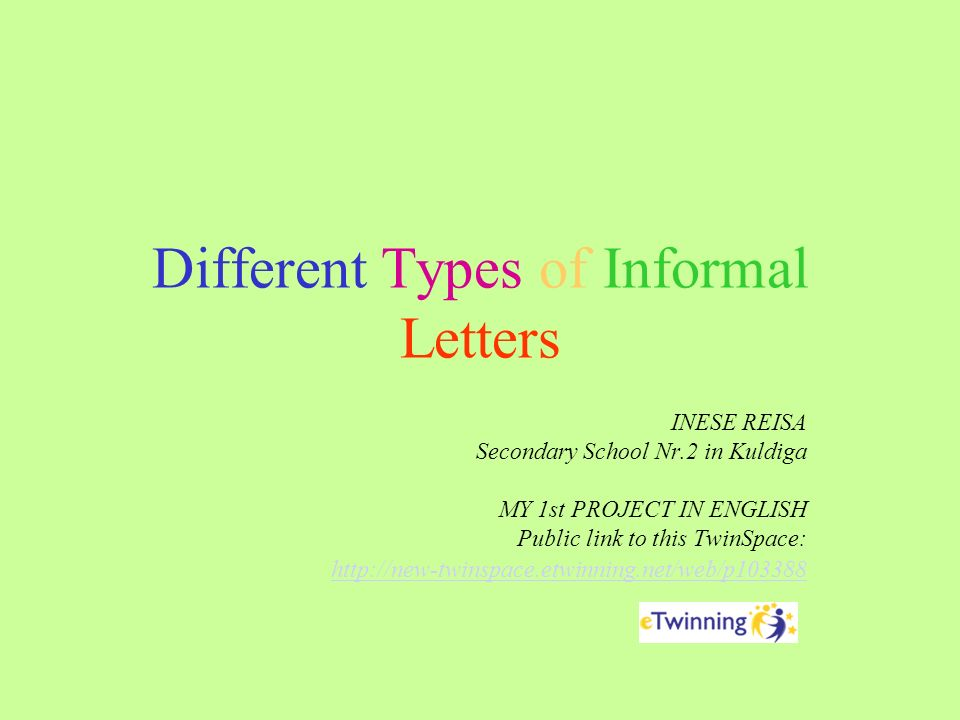 Different Types of Informal Letters - ppt video online download