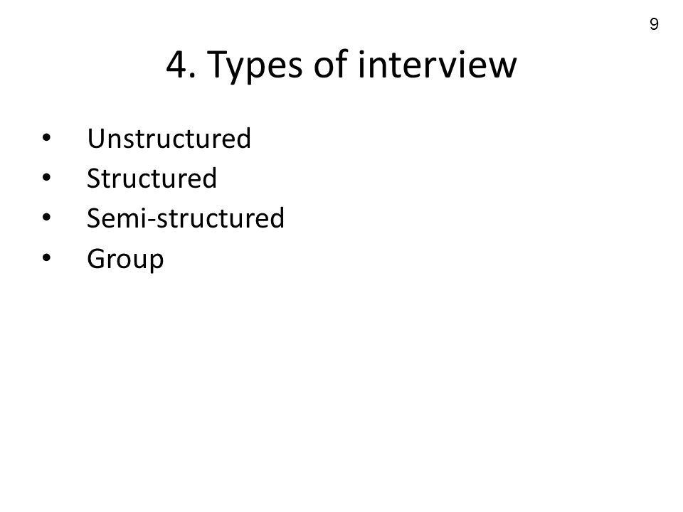Outline Definition The interview as test Types of question - ppt