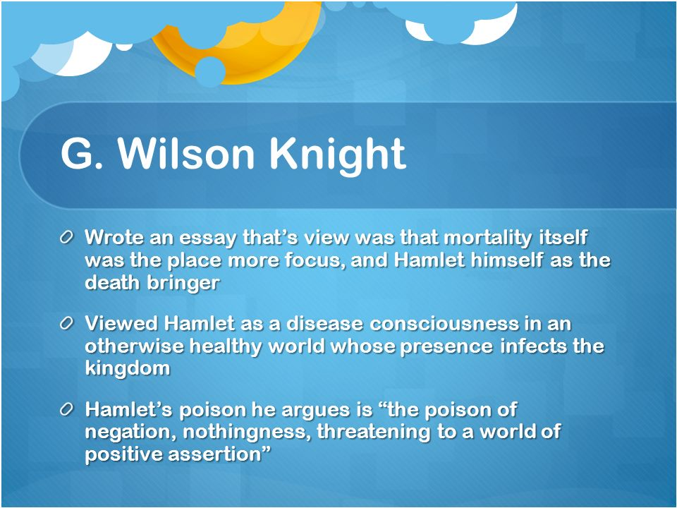 A Critical History of Hamlet - ppt download