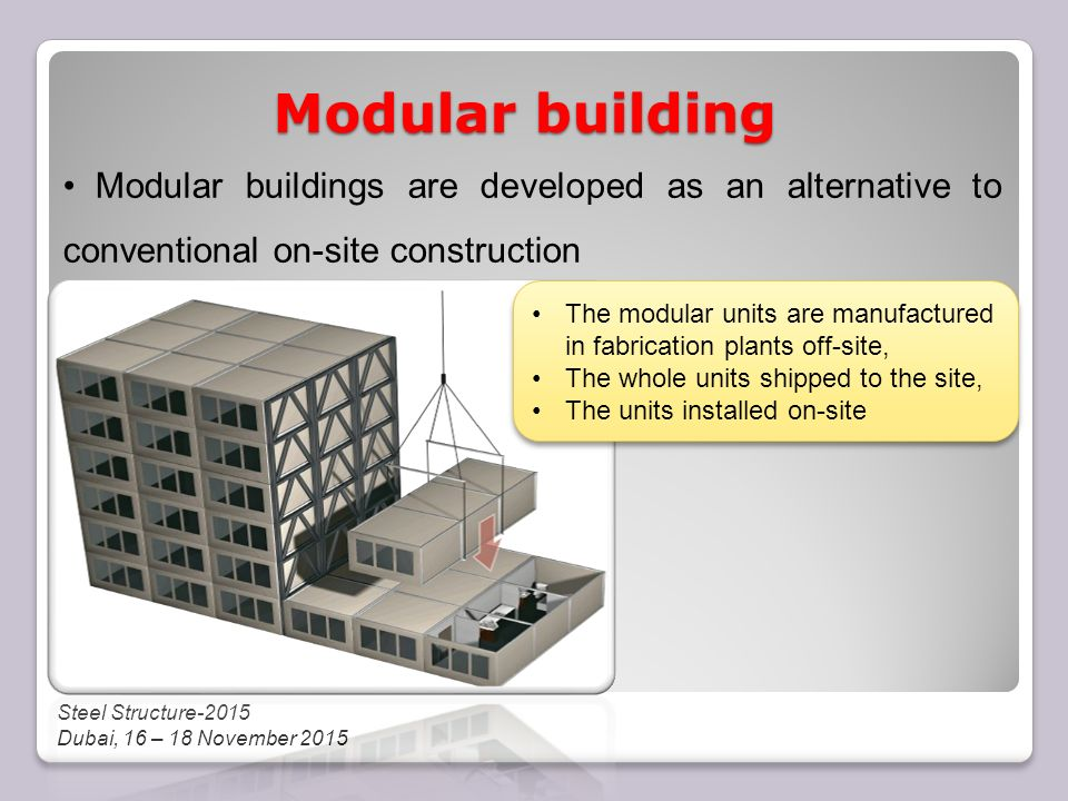 IN MODULAR CONSTRUCTIONS - ppt download