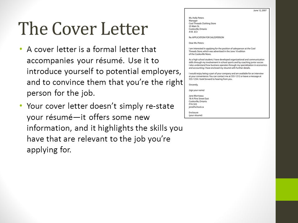 Suggestions for writing a cover letter College paper Help
