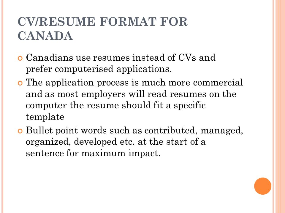 How to design an effective CV - ppt video online download
