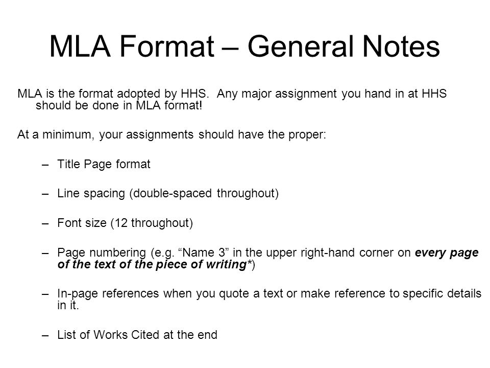 MLA Format What it is How to use it - ppt video online download