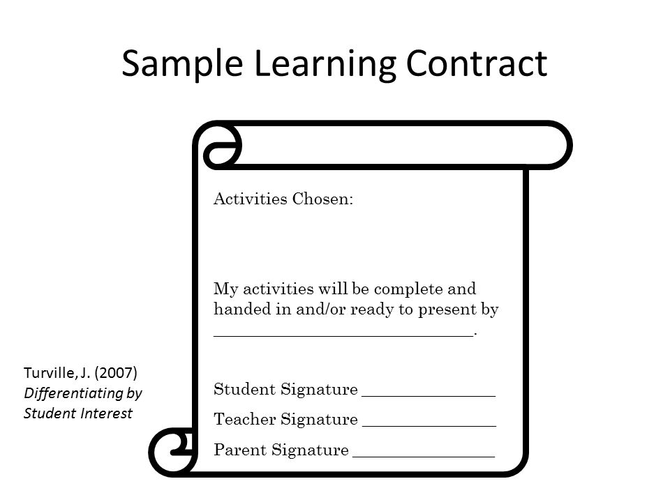 Total Group Alone Paired Small Groups Comprehension Recall Modeling - Student Contract Templates