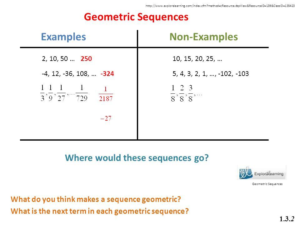 Geometric Sequence Examples samplingforeignluxury