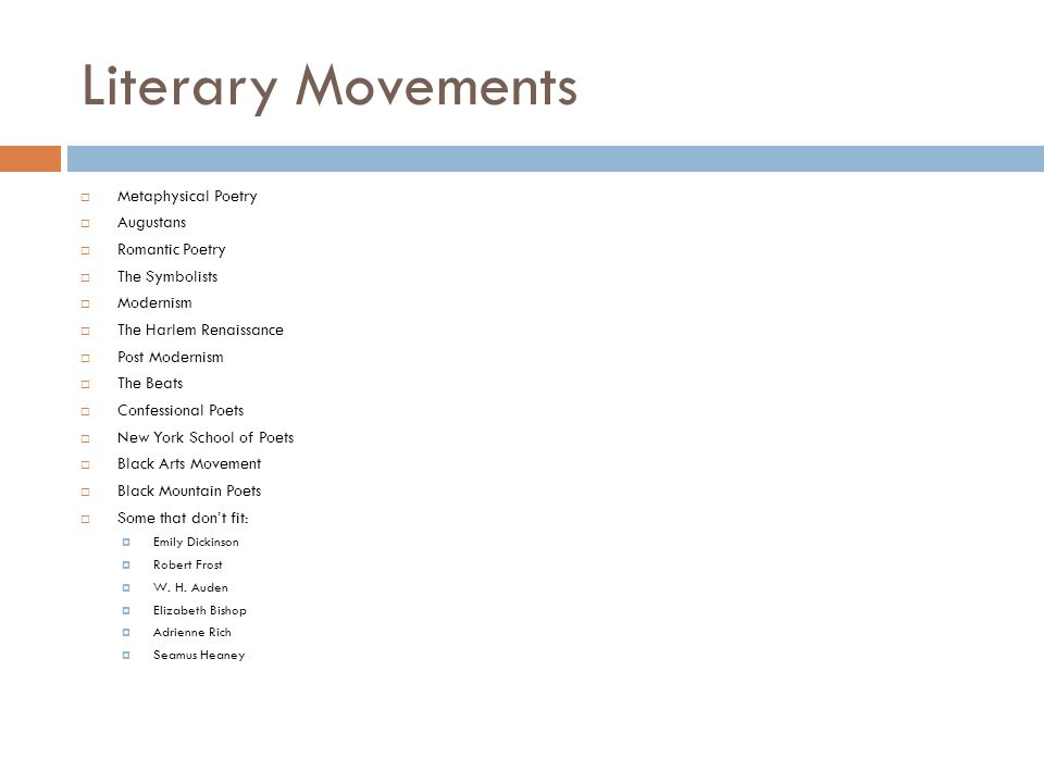 Literary Movement Overview - ppt video online download