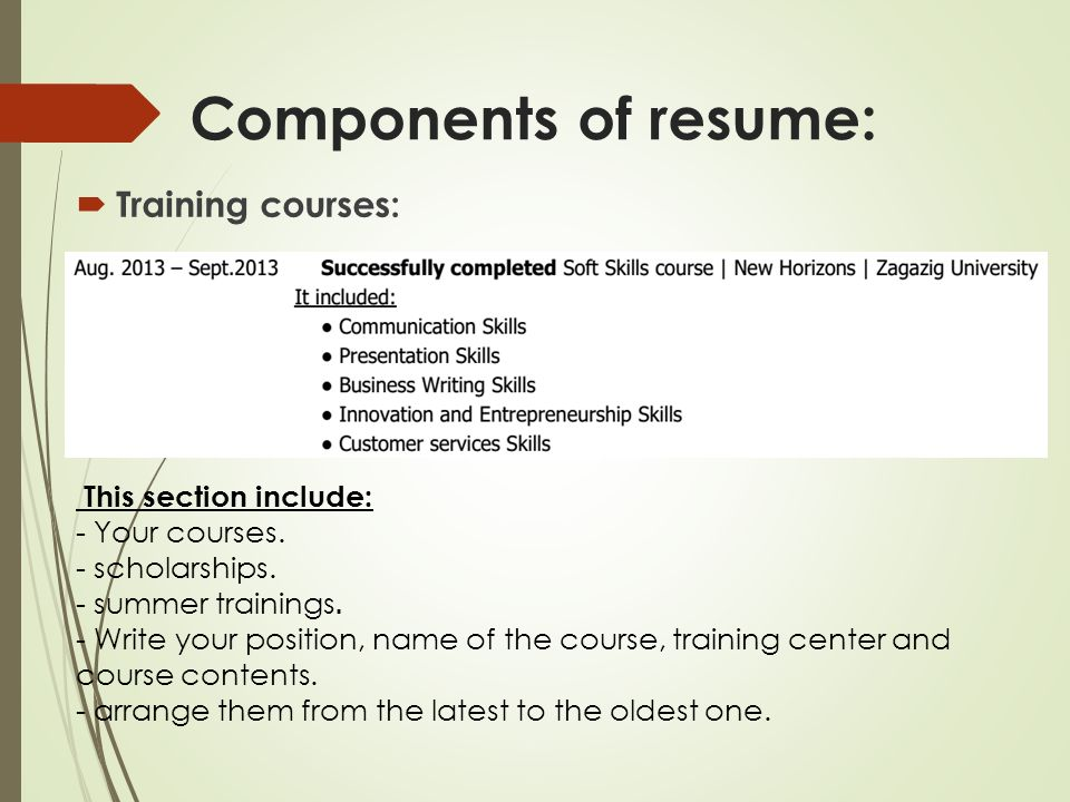 Your way toward professional Resume - ppt video online download - training resume