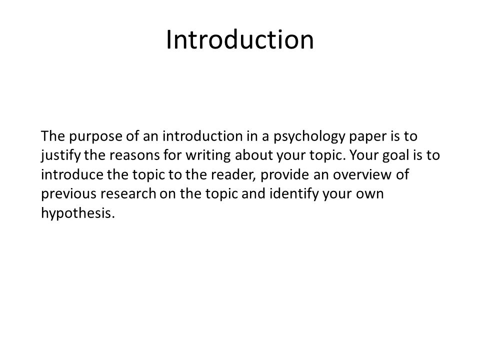 Title Page The title page is the first page of your psychology paper