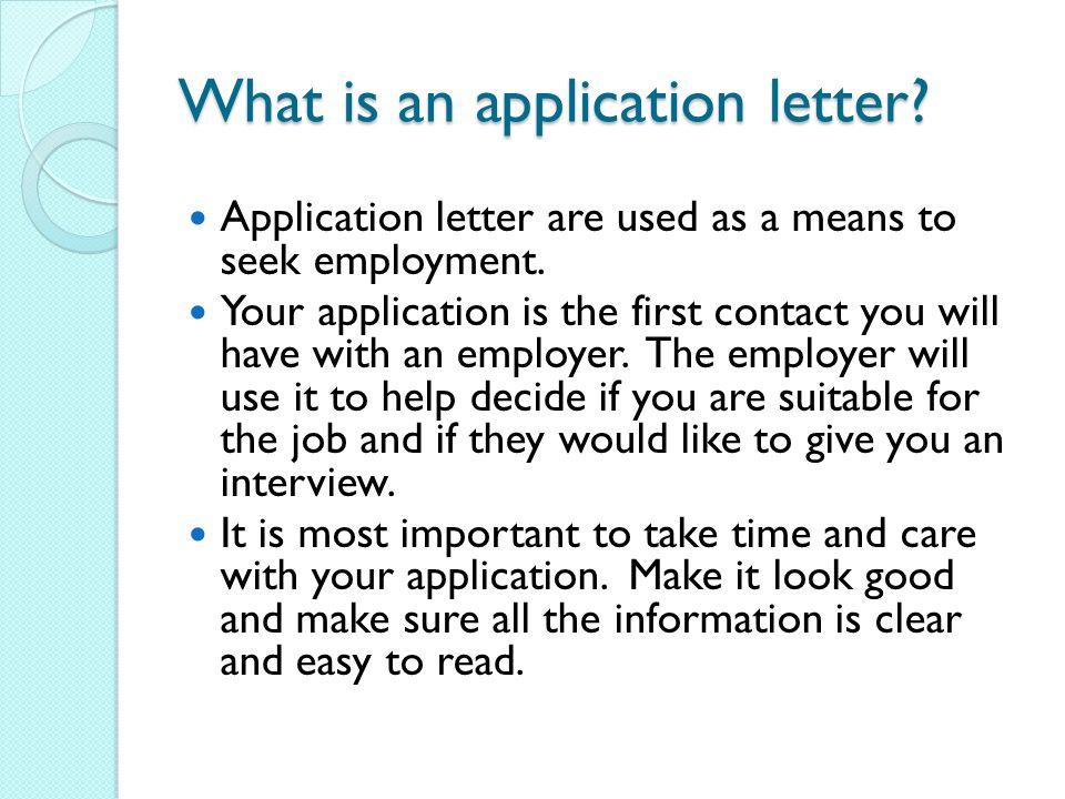 Application Letters - ppt video online download