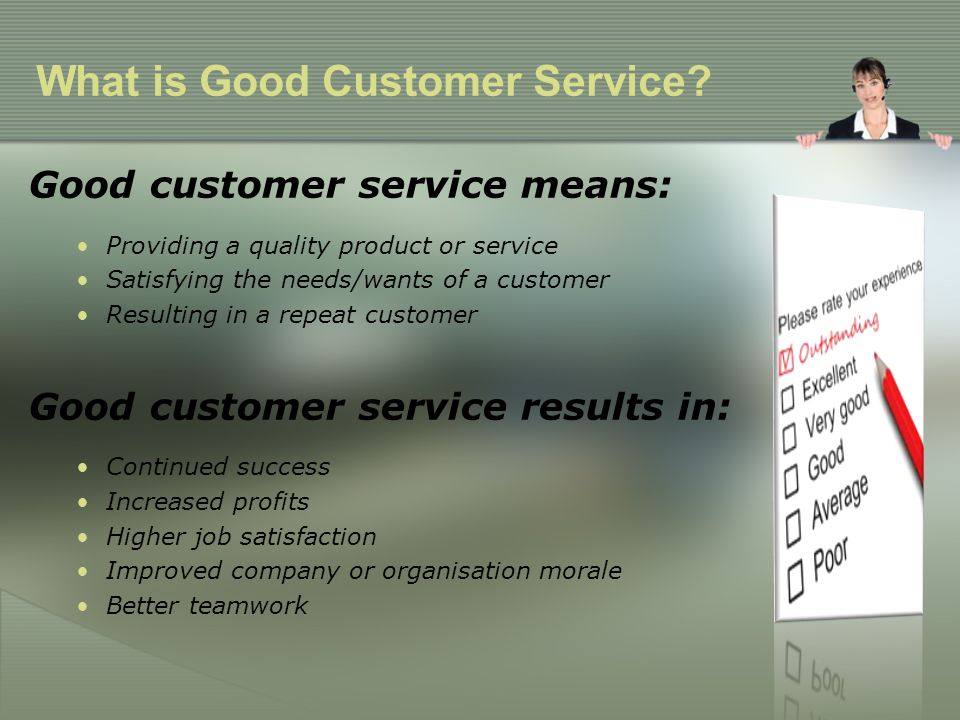 What is good customer service - ppt video online download