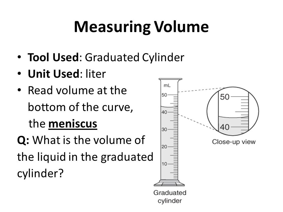 Aim What tools do we use to measure for mass, length  volume, and - tools to measure volume