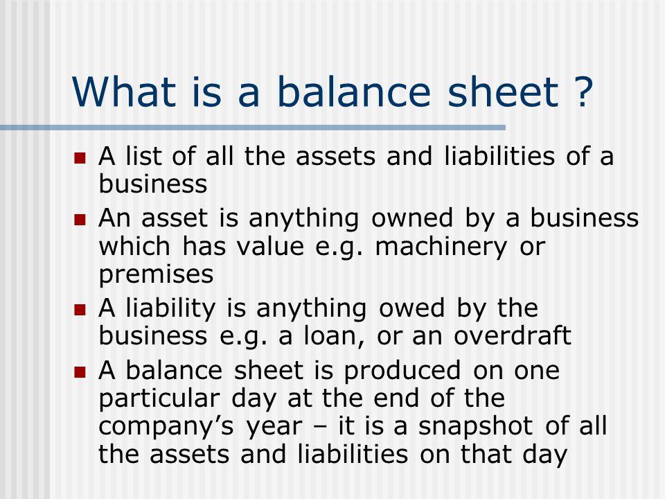 Balance sheets - ppt video online download