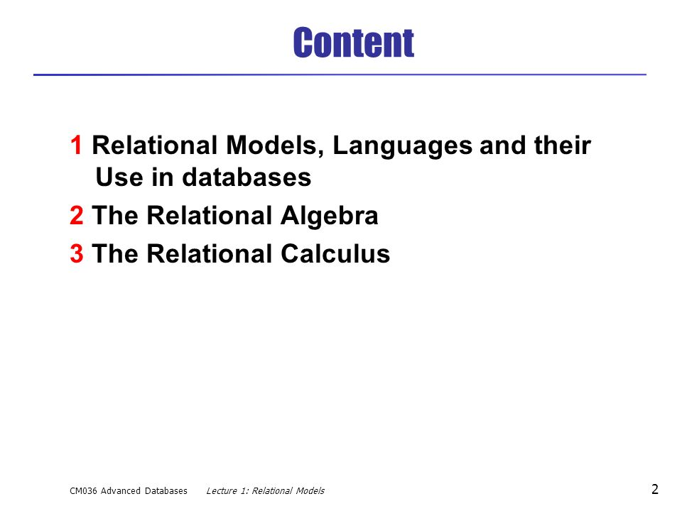 Lecture 1 Relational Data Models - ppt video online download