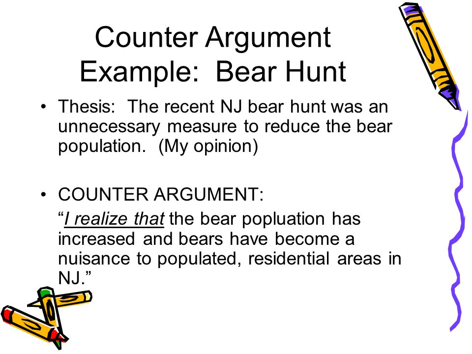 COUNTER ARGUMENT THE OPPOSITION! - ppt video online download