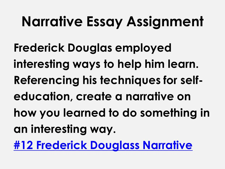 An introduction to the essay on the topic of fredrick douglass