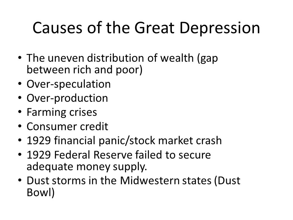 Causes of the Great Depression Wikipedia - oukasinfo