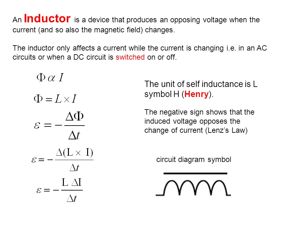 Inductors ? circuit diagram symbol - ppt video online download