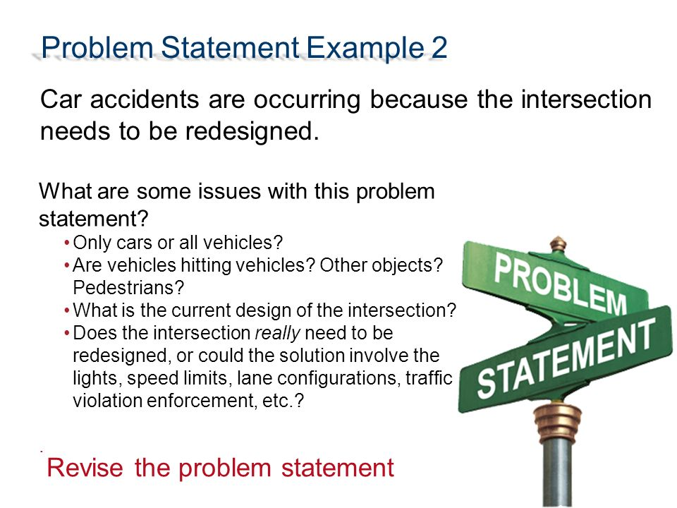 Writing a Problem Statement - ppt video online download - problem statement example
