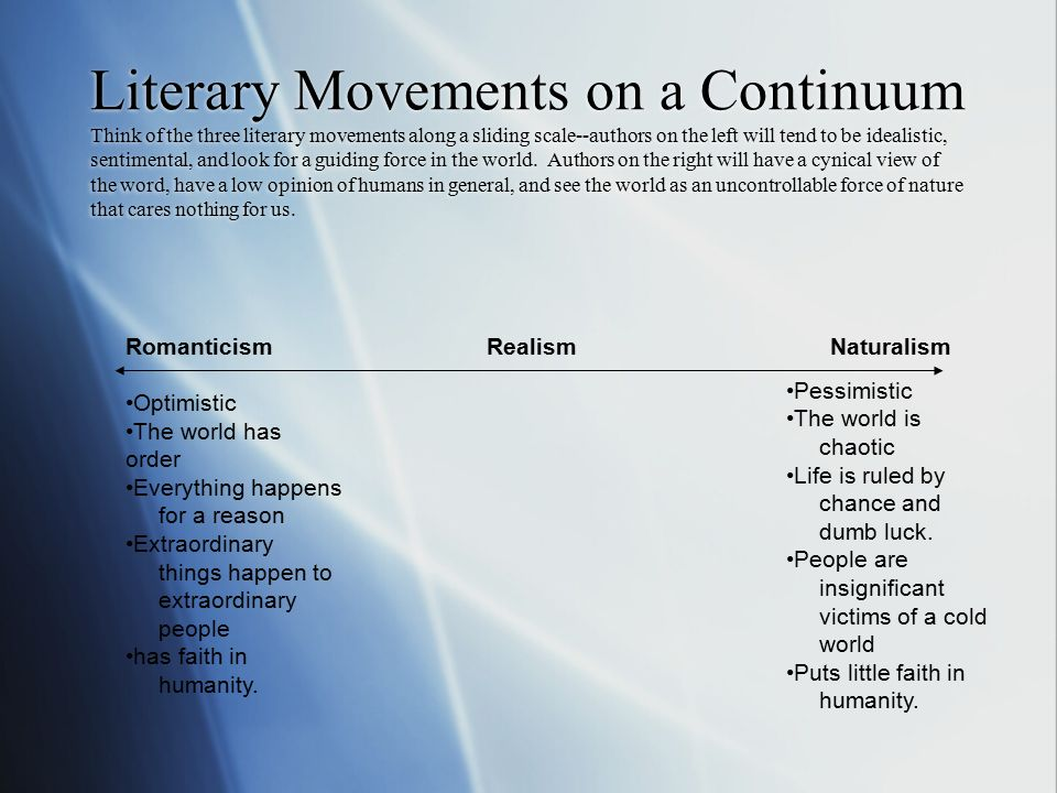 Literary Movements in America - ppt video online download