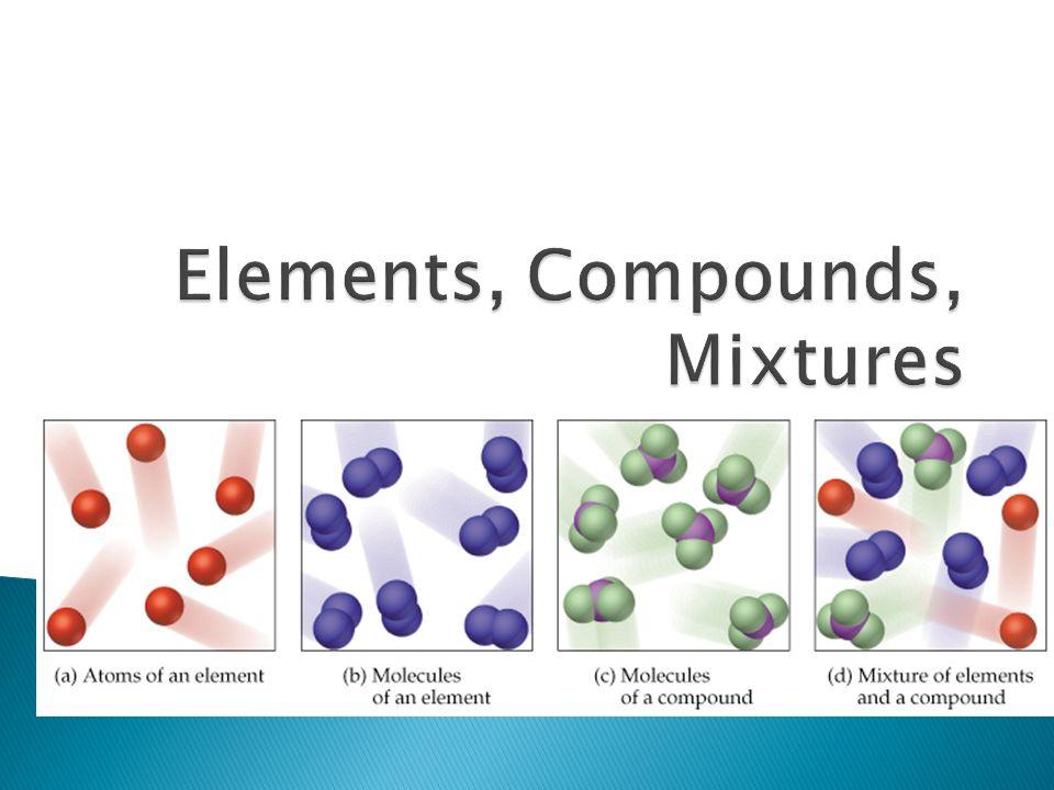 Elements, Compounds, Mixtures - ppt video online download