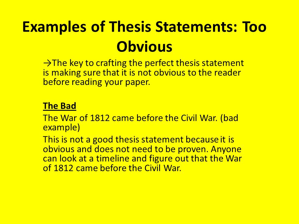 Bad thesis writing Custom paper Example - March 2019 - 1729 words