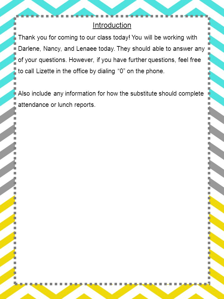 This entire substitute teacher binder is editable - ppt video online