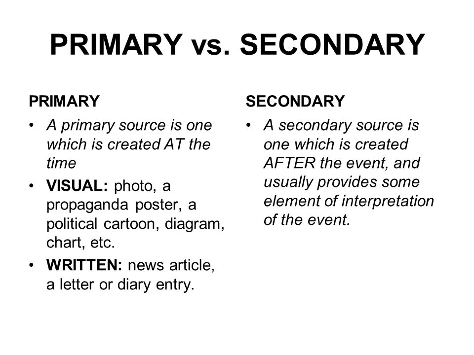 An Examination of Visual Primary and Secondary Sources - ppt video