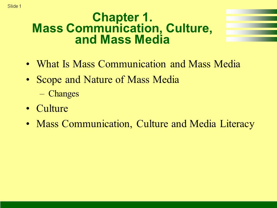 Chapter 1 Mass Communication, Culture, and Mass Media - ppt video