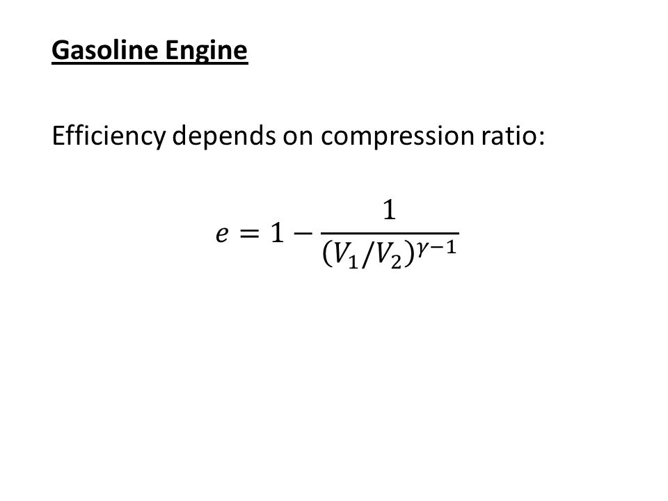 Gasoline Engine Draw a P-V diagram for the following cyclic process