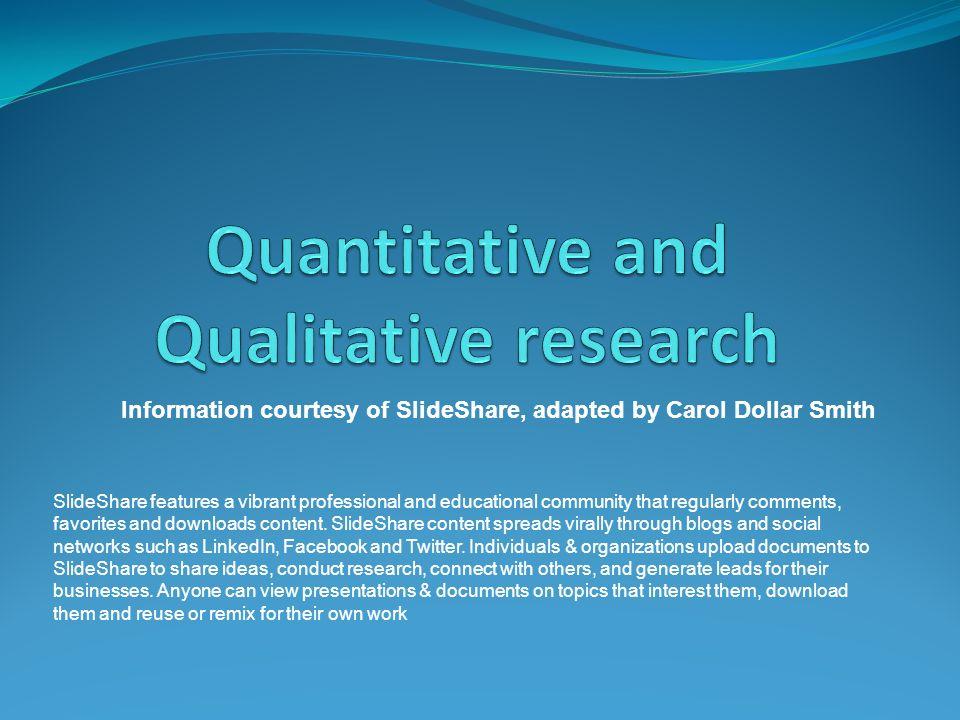 Quantitative and Qualitative research - ppt video online download