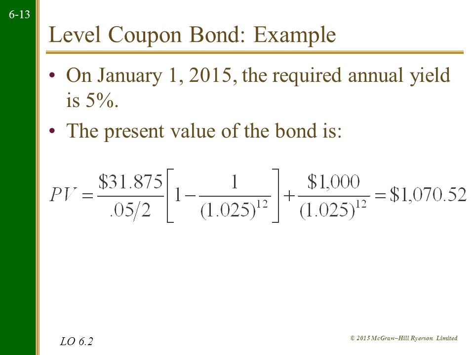 Chapter Outline 61 Definition and Example of a Bond 62 How to