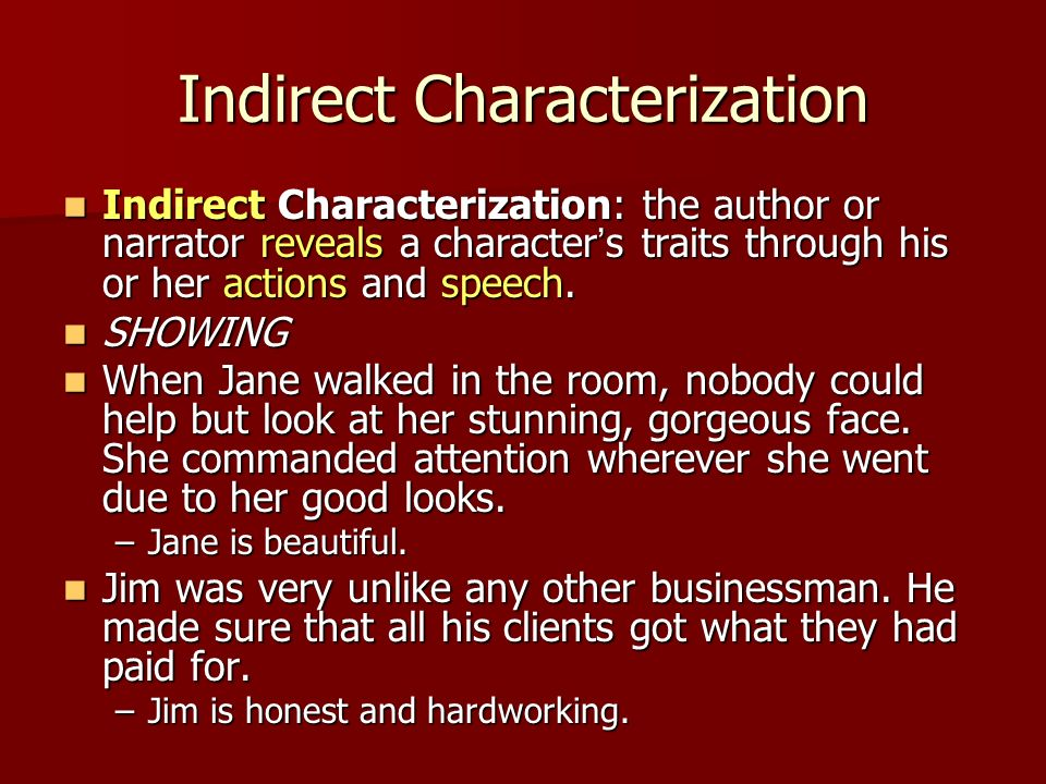 Direct vs Indirect Characterization - ppt download