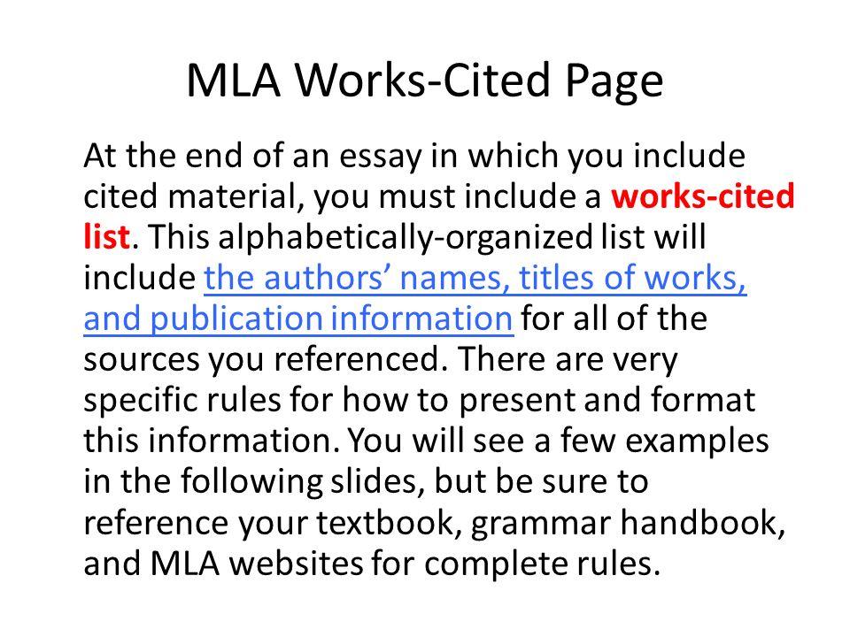Use mla citations essay Homework Help qbassignmentxhgdsupervillaino