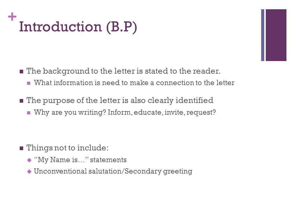 Business Letter Format - ppt video online download