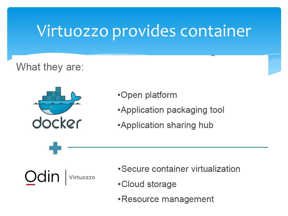 Containers, Docker and Virtuozzo - ppt video online download