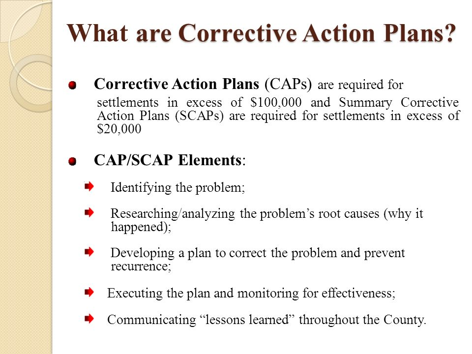 Corrective Action Plan Overview - ppt video online download