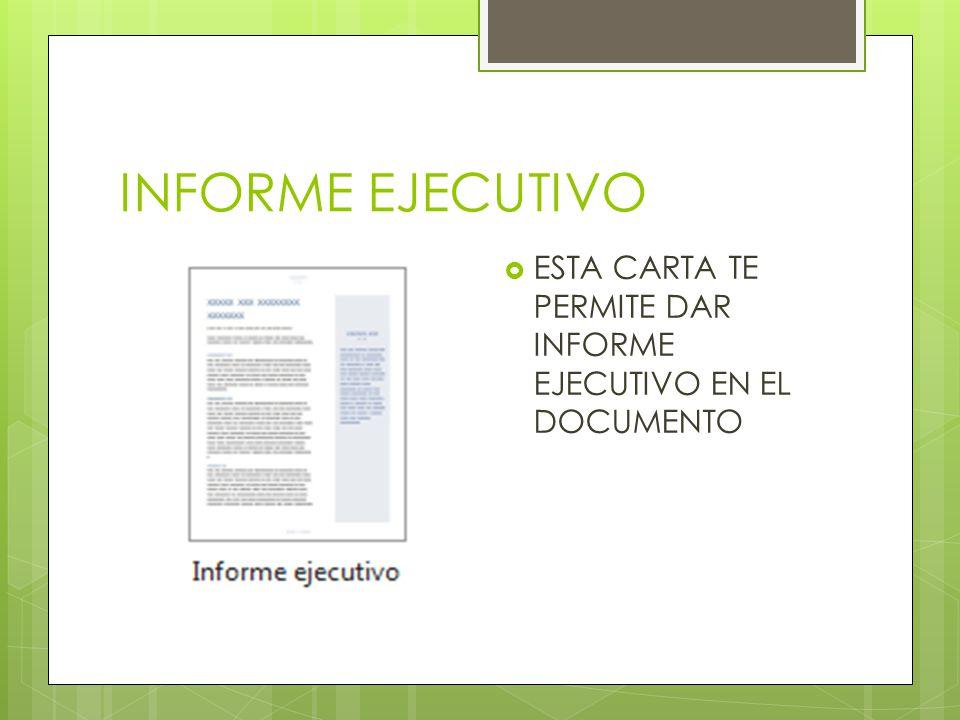 Exposición Informe Ejecutivo Control - SoftwareMac - formatos de informes gerenciales