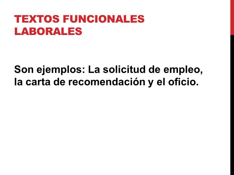 textos funcionales laborales y sociales ppt video online descargar formato para recomendacion laboral