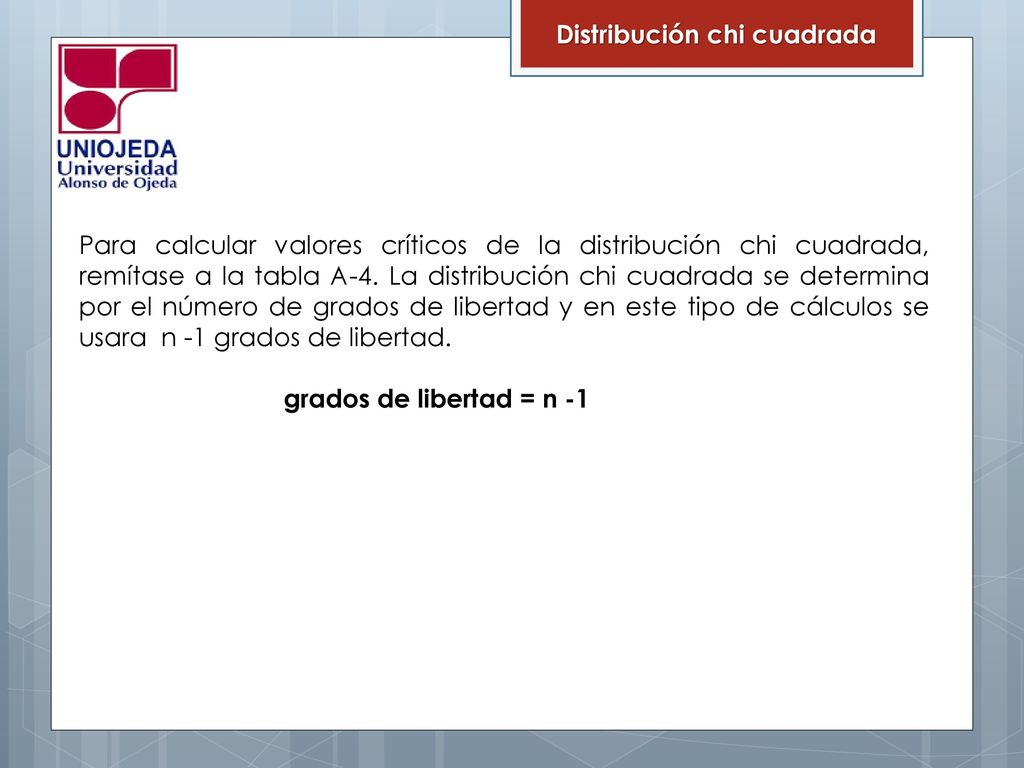 Chi Cuadrado Definicion Estadistica Ii 2do Corte Ppt Descargar