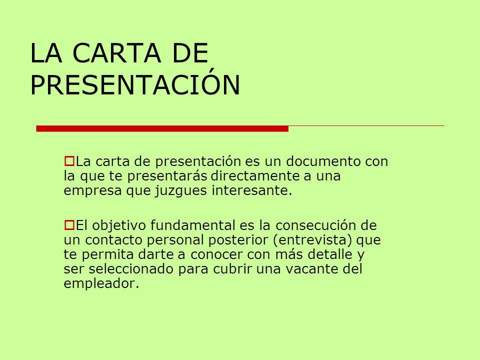 LA CARTA DE PRESENTACIÓN - ppt video online descargar