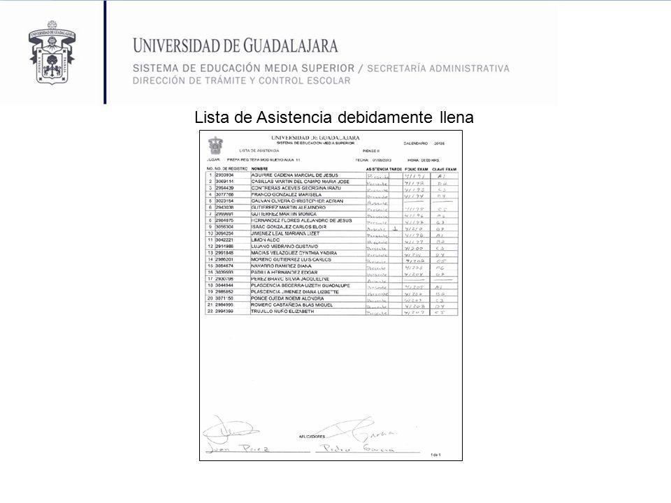 Llenado Lista de Asistencia - ppt descargar