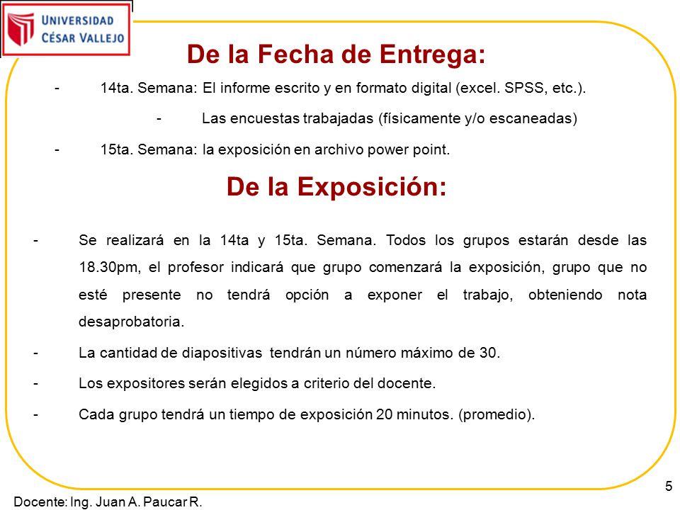 Trabajo de Investigación Informe Final - Pautas - - ppt video - formato de informe escrito