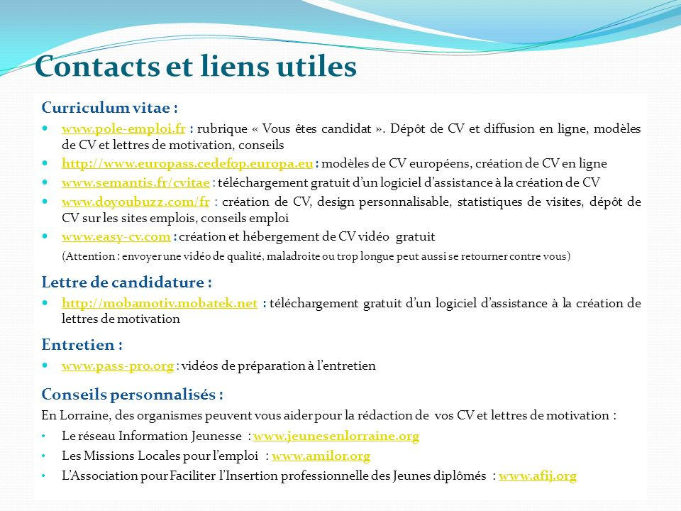 creation cv online gratuit