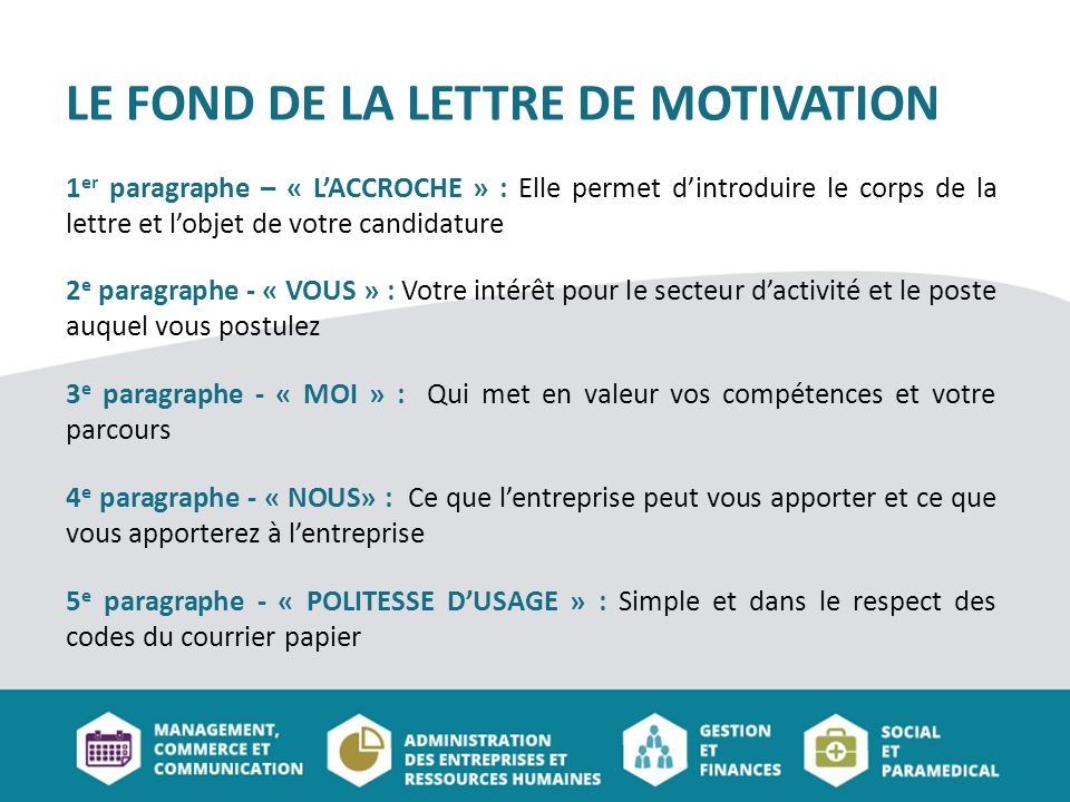l interet du cv et de la lettre de motivation