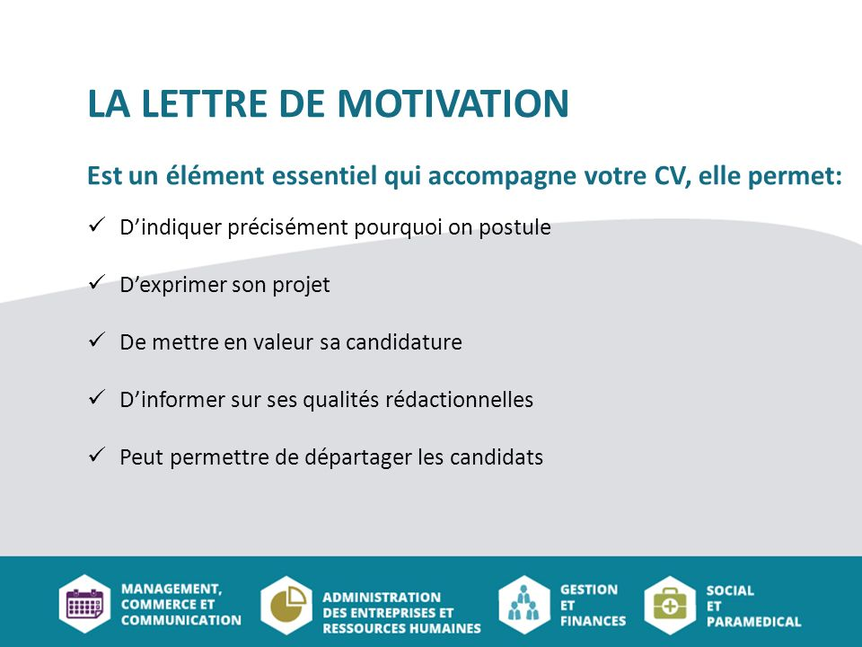lettre de motivation et cv type