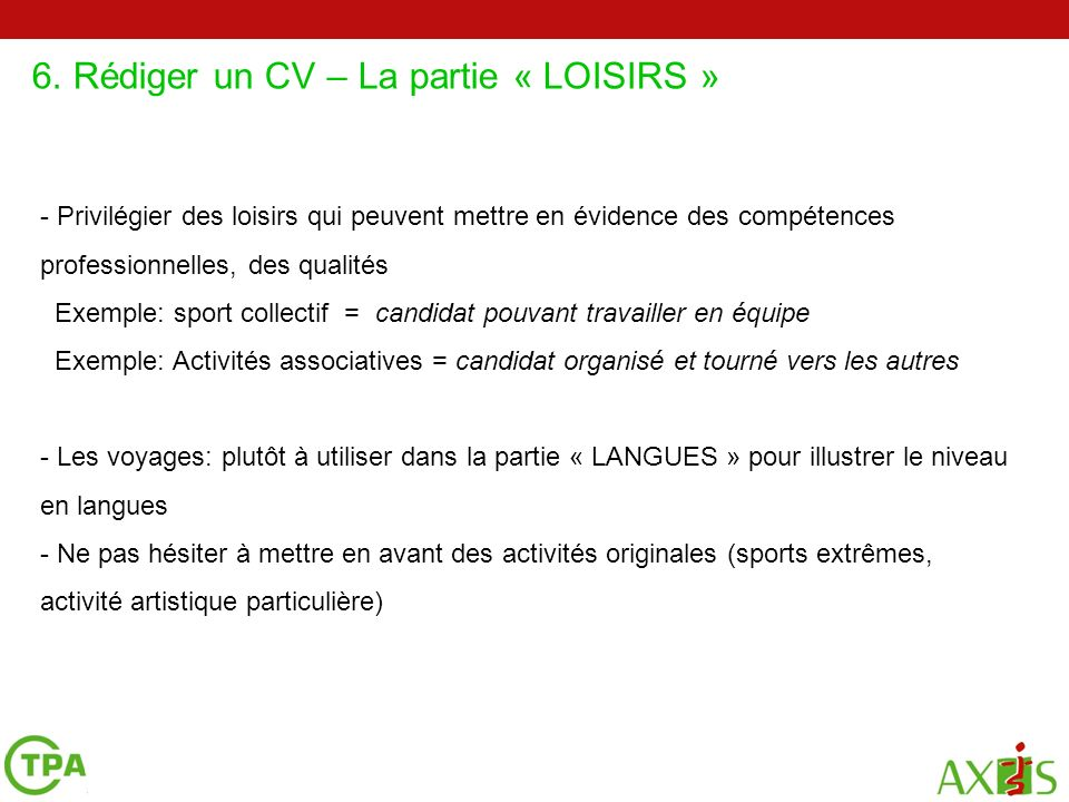 cv mettre activites associatives passees